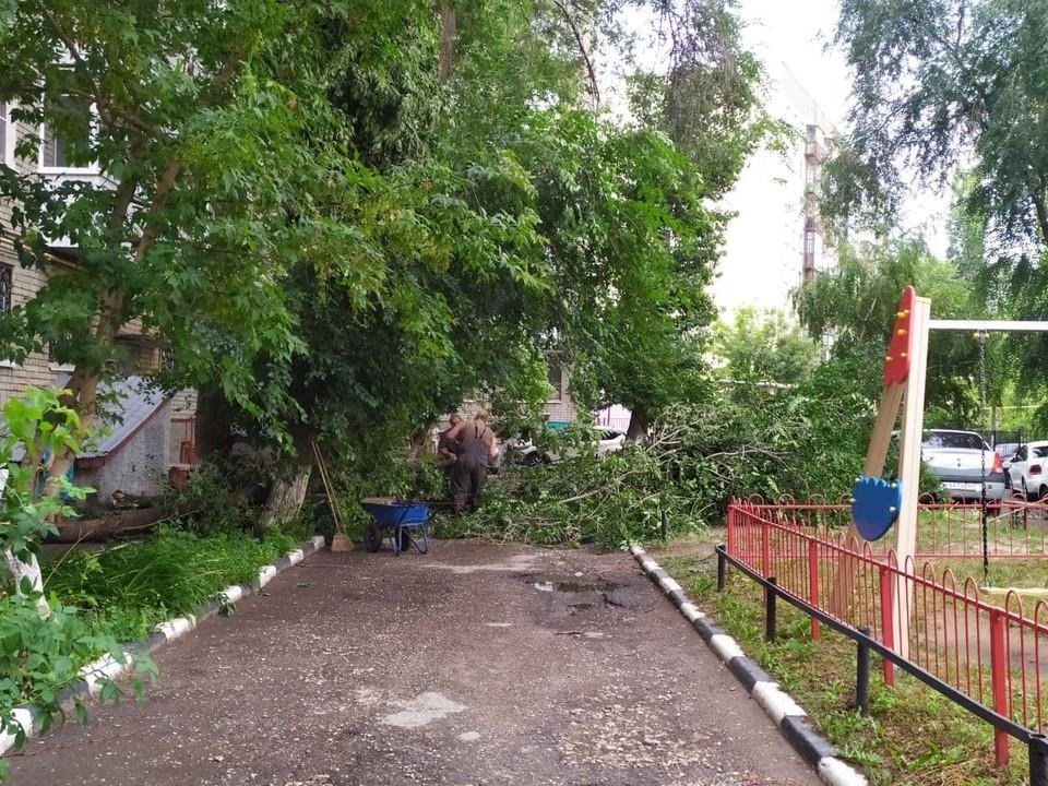 По Саратовской области прошелся шторм