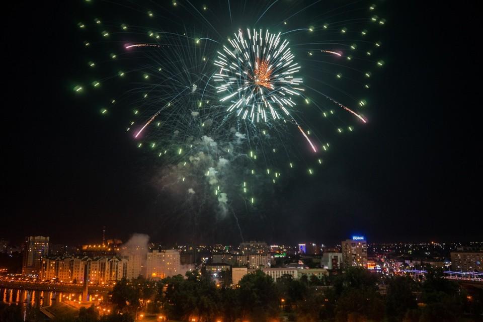 Администрация Орла опубликовала список мест салюта на День города