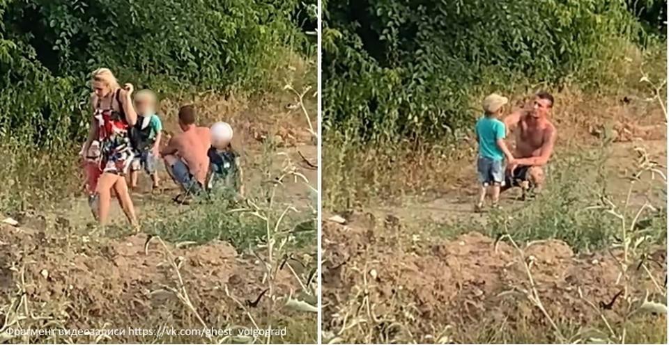 В Волгограде ищут мужчину, который истязал мальчика на глазах у прохожих.