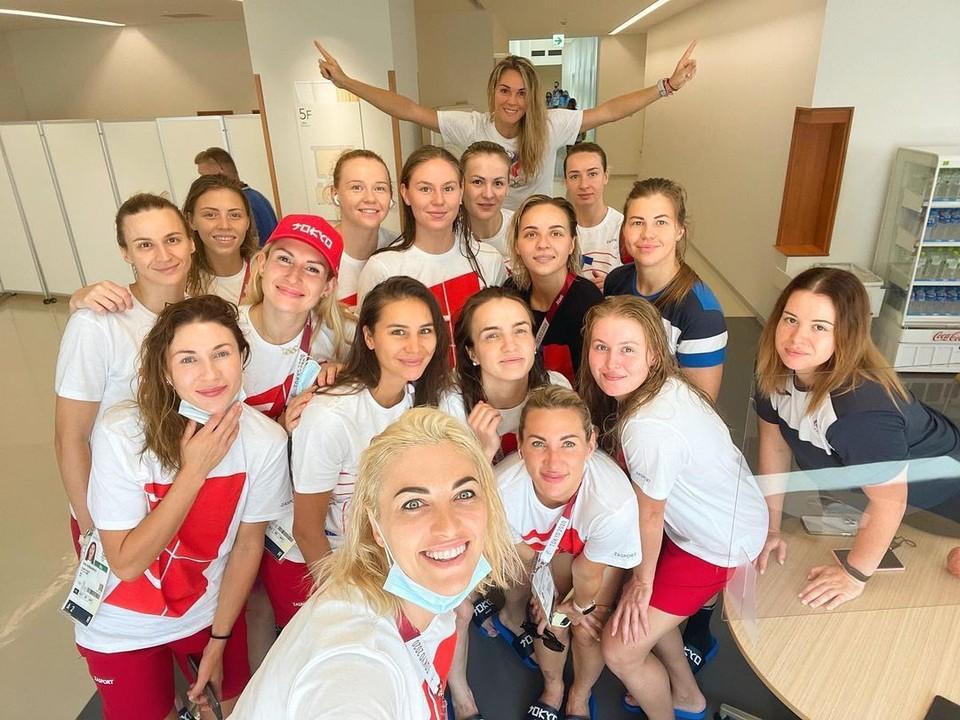 """Наша сборная уже дважды побеждала команду Бразилии на Олимпиаде. Фото: личная страница Анны Сень в """"Инстаграме"""""""