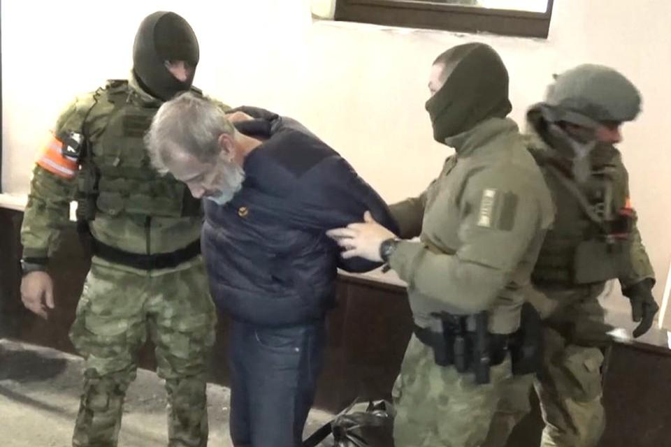 Момент задержания Тони Стефановски сотрудниками ФСБ России.