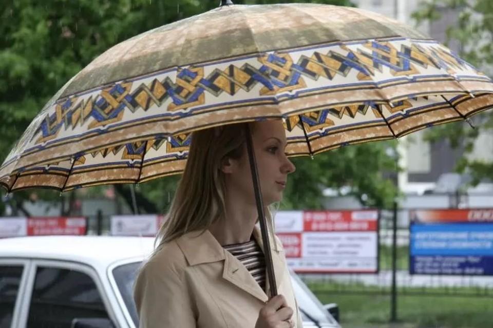 В Барнауле в конце дня небольшой дождь