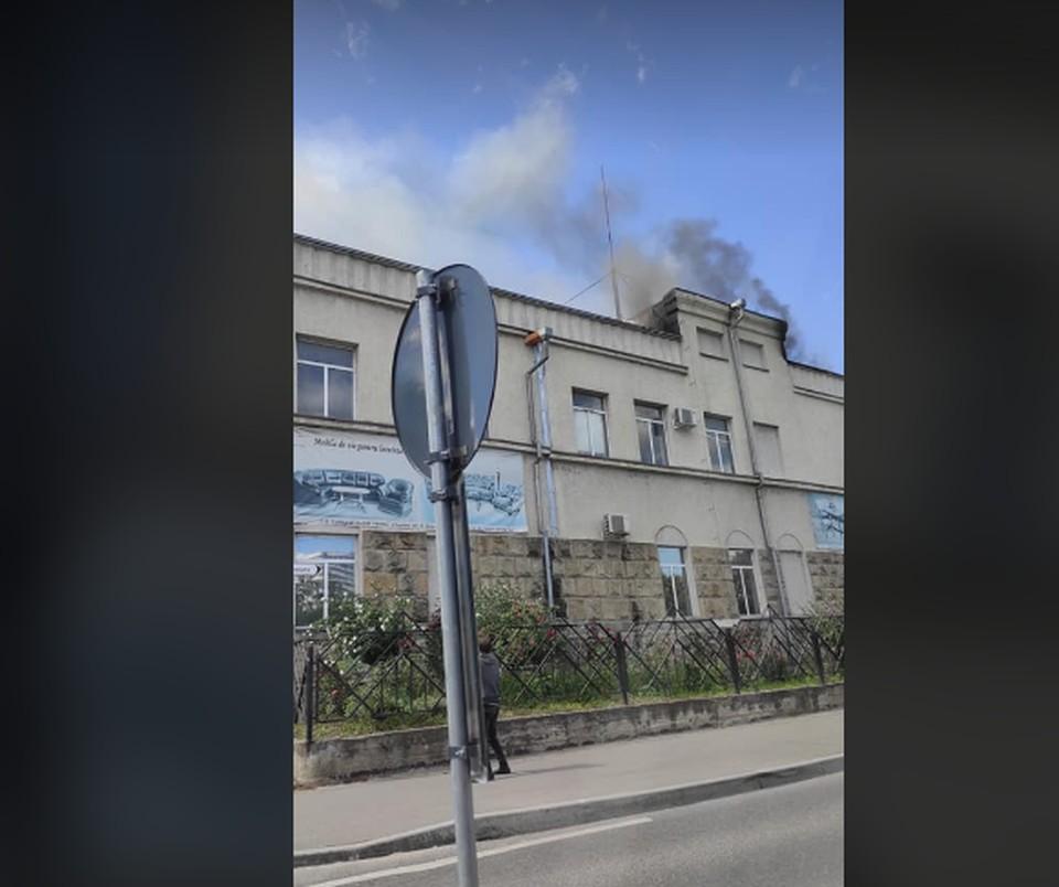 Дым был виден издалека (Фото: ГБМ/ФБ).