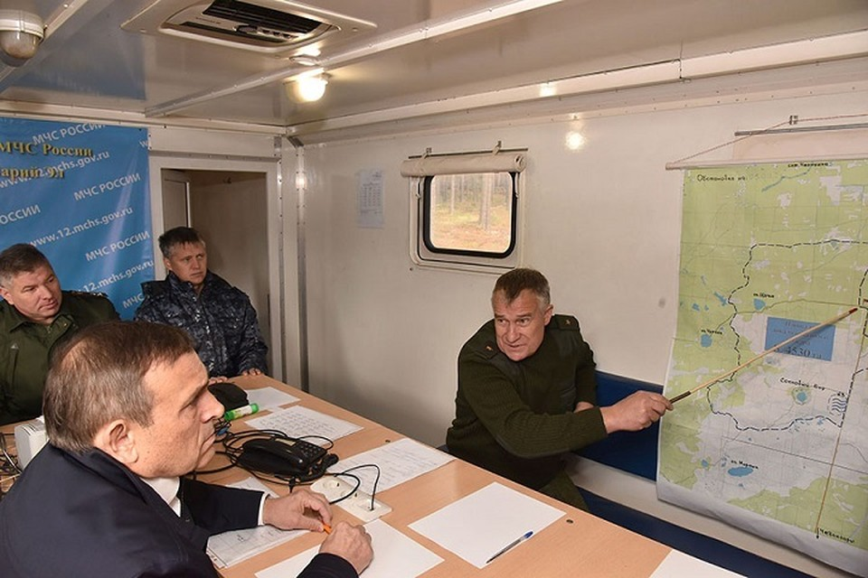 В настоящее время угрозы населенным пунктам и условий для распространения огня в лесах Марий Эл нет. Фото: mari-el.gov.ru