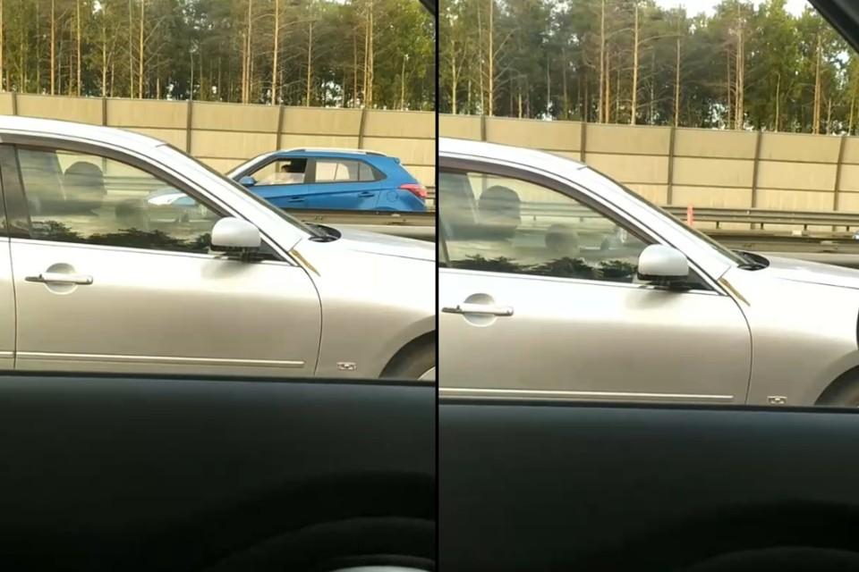 "На КАД в Ленобласти заметили малыша за рулем иномарки. Фото: предоставлено ""КП"""