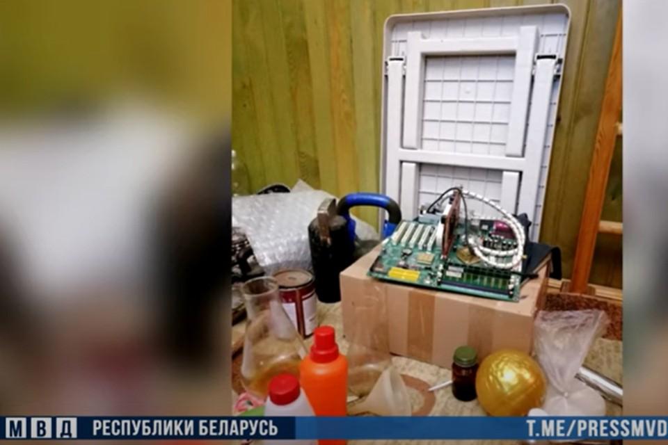 Победитель олимпиад по химии организовал нарколабораторию в Гродно. Фото: скриншот видео МВД