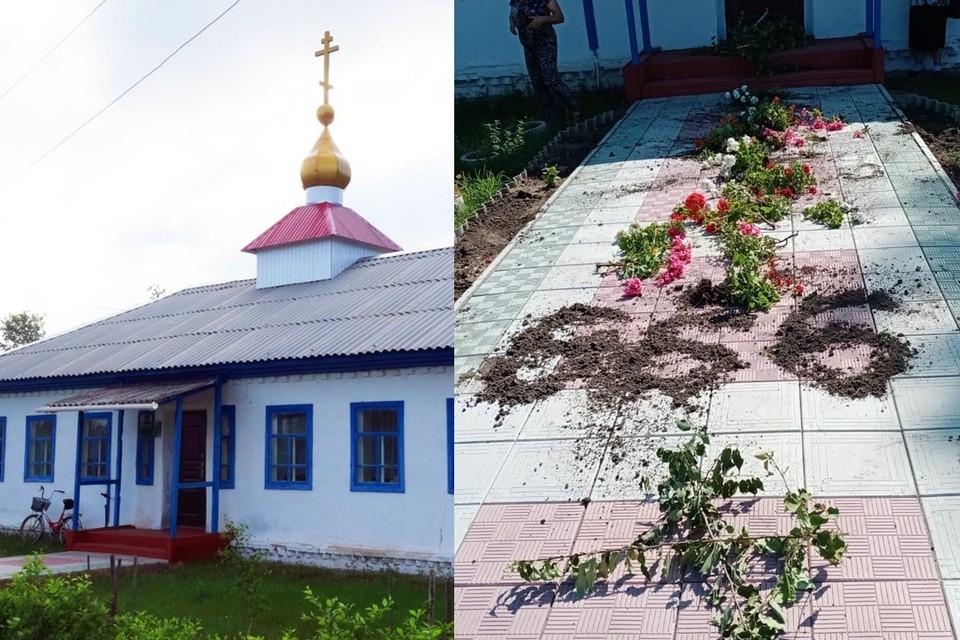 """Прихожане подозревают школьницу. Фото: группа """"Карасукская Епархия"""" """"ВКонтакте"""""""