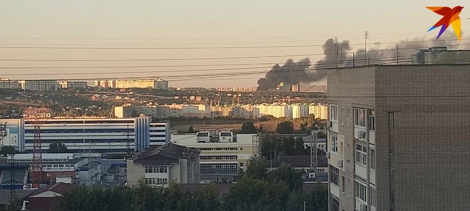 Пожар возле пруда Семхоз