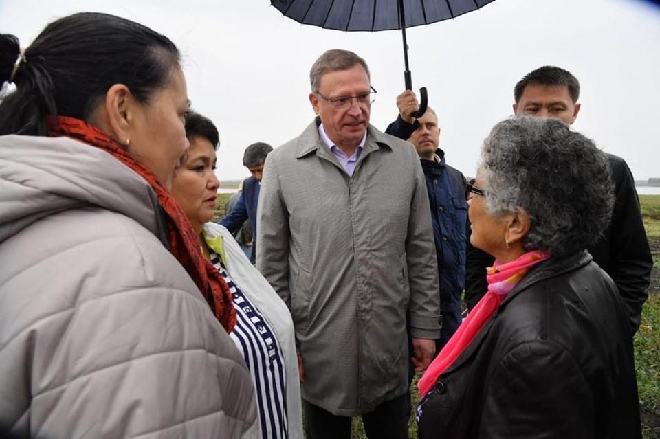 Губернатор поздравил жителей села с праздником.