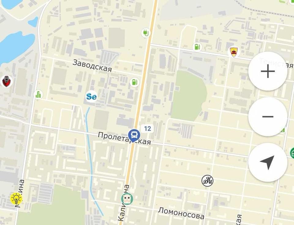 Каждый автобус в областном центре оборудован прибором навигации, который позволяет через спутник отслеживать его местоположение Фото: скриншот