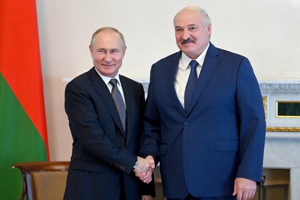 Песков рассказал, что Путин и Лукашенко проведут часть переговоров за рабочим обедом. Фото: president.gov.by