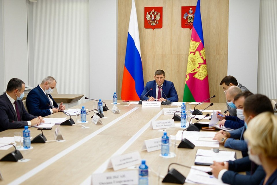 Совещание по предотвращению ЧС. фото: пресс-служба администрации Краснодарского края