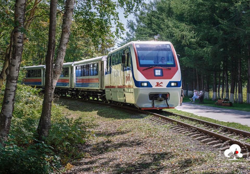 Детская железная дорога, фото городского парка