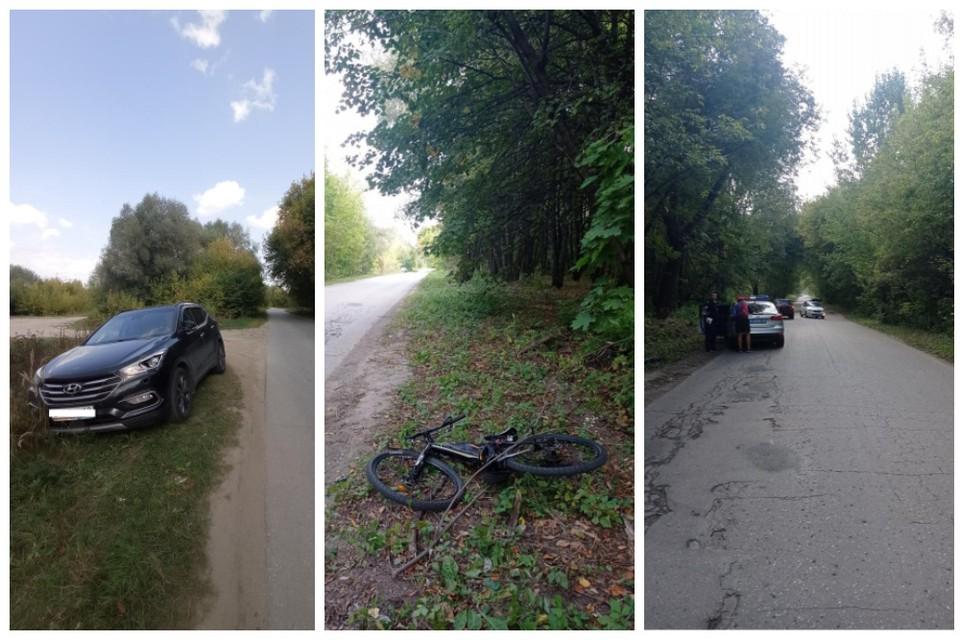 В Лесопарке пьяная рязанка на кроссовере сбила велосипедистку.