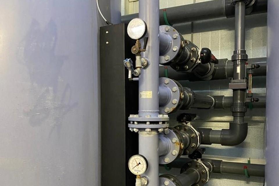 После полного заполнения системы водоснабжения было зафиксировано падение давления