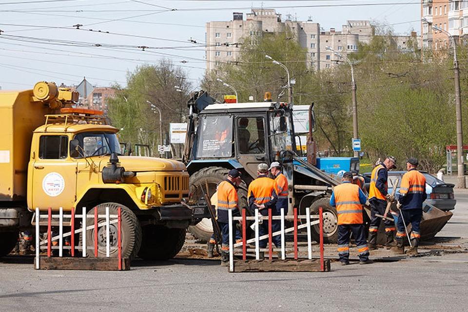 Ремонт дорог в Ижевске