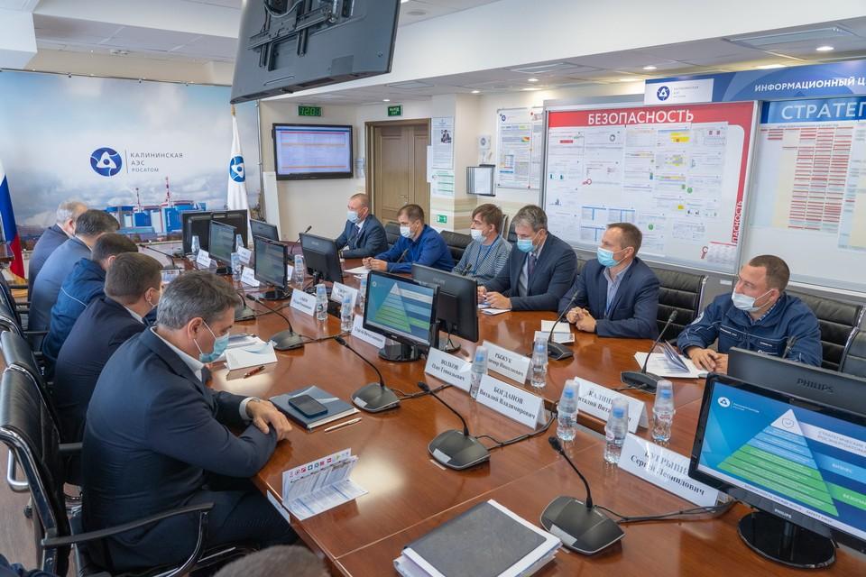 Работа комиссии Фото: Управление информации и общественных связей Калининской АЭС