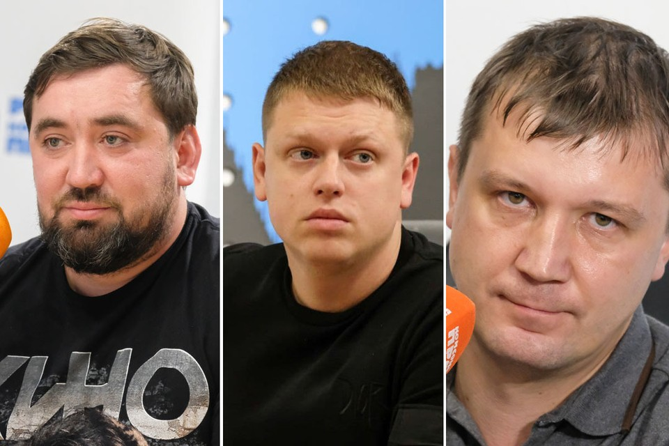 Руслан Гайсин, Игорь Шумилин, Дмитрий Румянцев (слева направо).