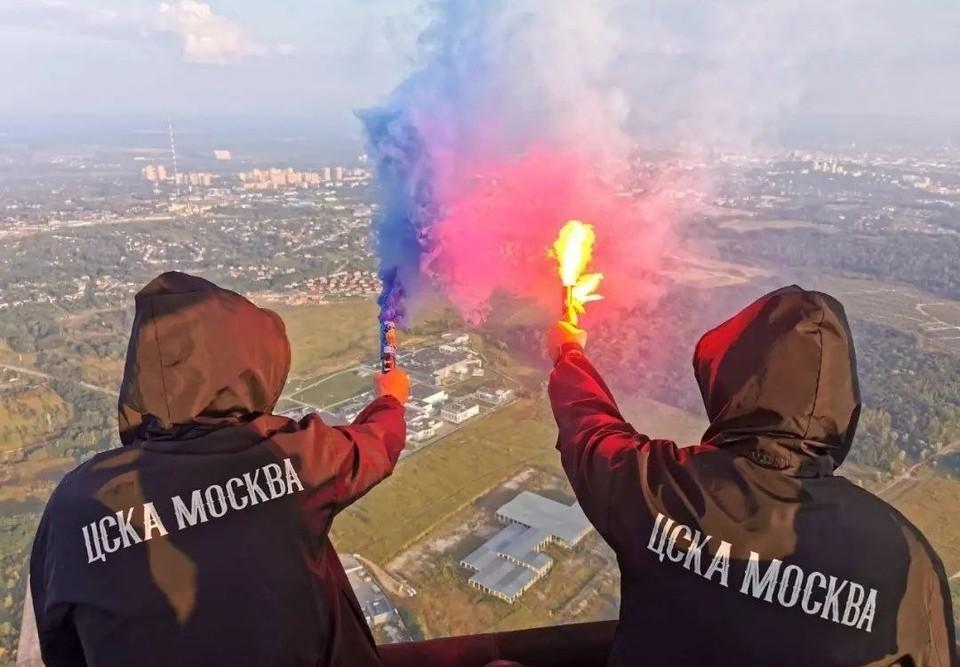 Болельщики ЦСКА решили прилететь в Тулу на воздушном шаре