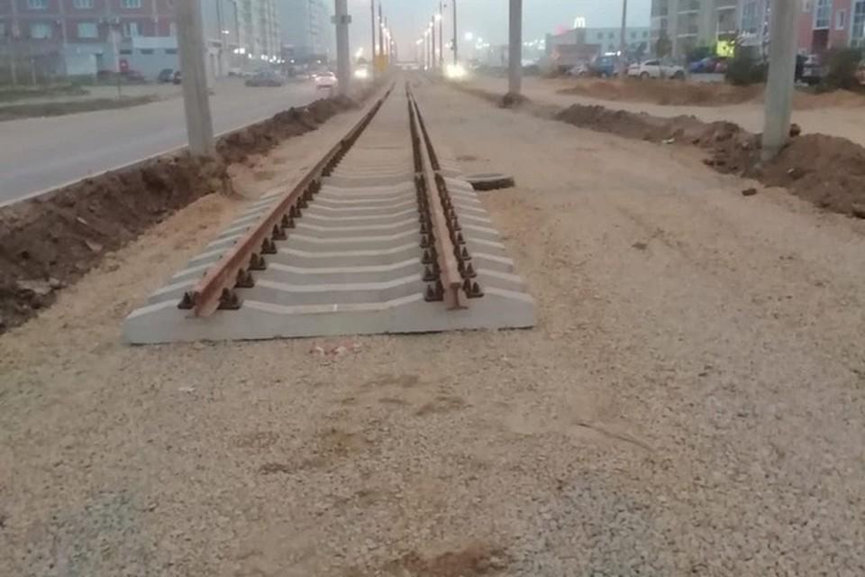 Новое трамвайное полотно в Краснодаре готово на 60%. Фото: пресс-служба администрации Краснодара