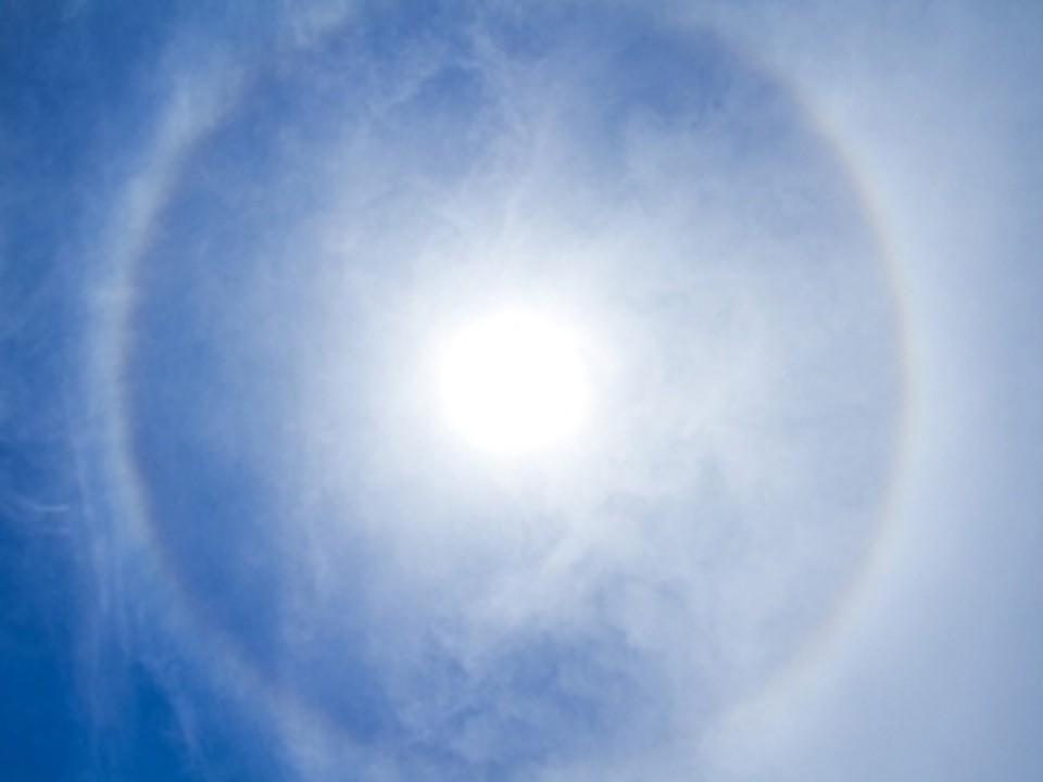 Небесное явление под название гало сегодня появилось над Ростовом.