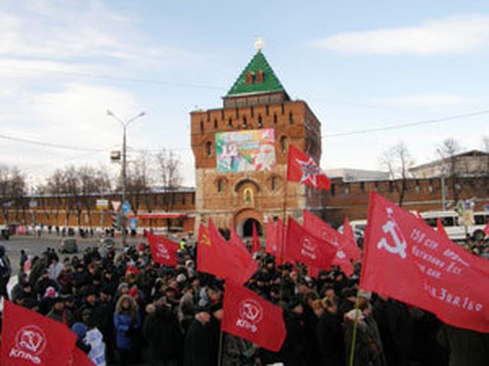 Митинг оппозиции в Нижнем Новгороде.