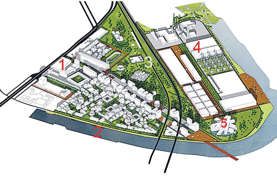 Oдин из вариантов застройки площади завода