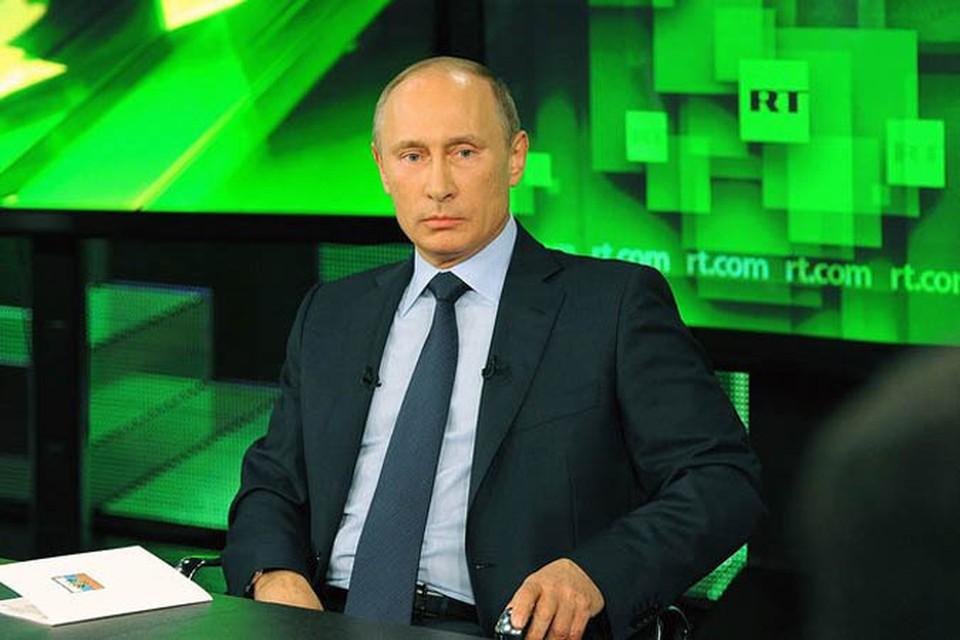 Президент посетил новый студийный комплекс телеканала Russia Today и встретился с руководством и корреспондентами телеканала
