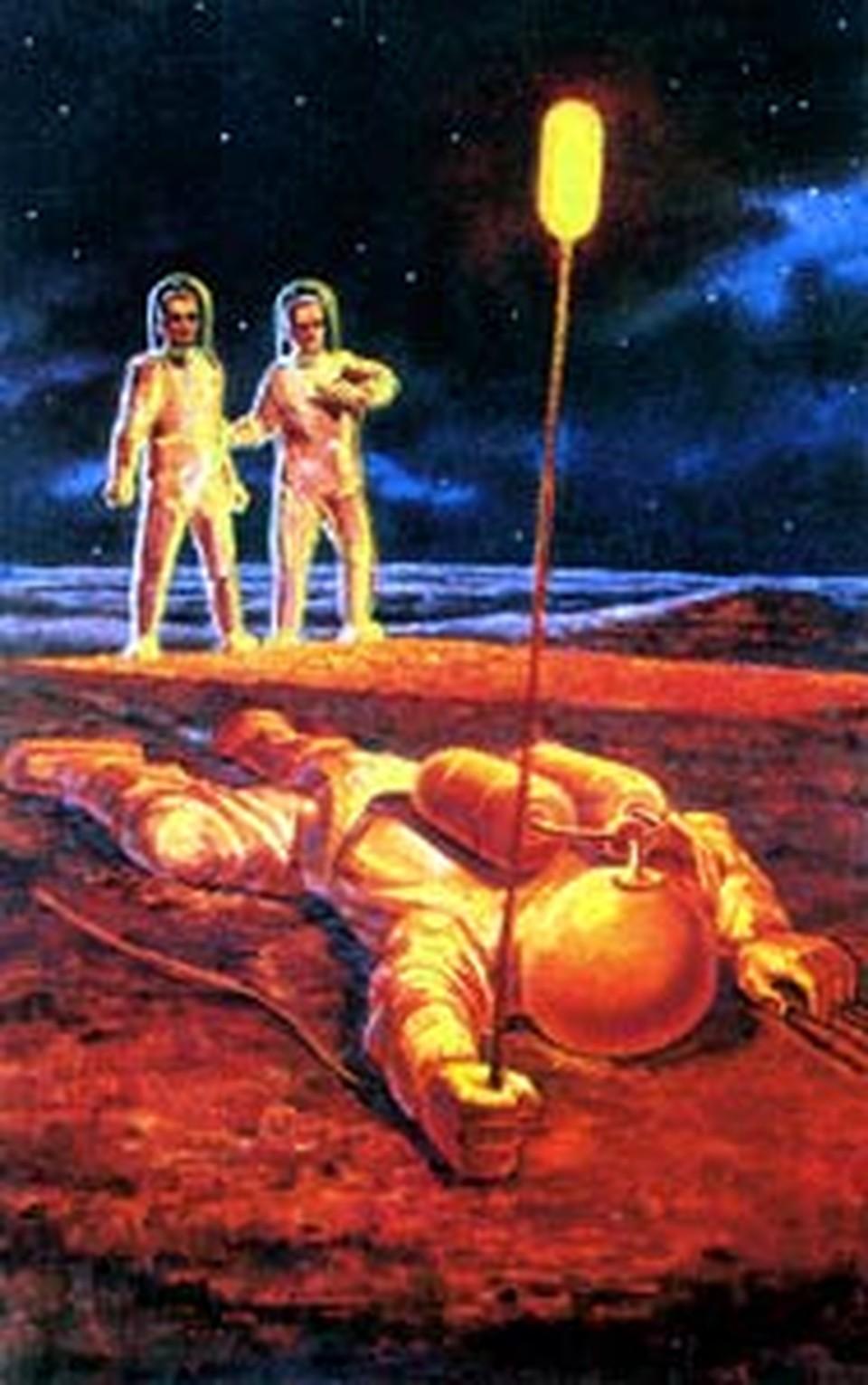 Некоторые видения сражают космонавтов наповал. (Картина Андрея Соколова, друга летчика-космонавта Алексея Леонова.)