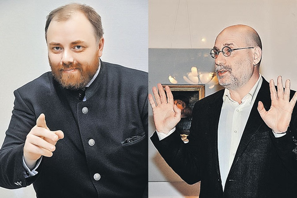 Холмогоров (слева) подловил Акунина на некоторых, мягко говоря, неточностях и несоответствиях исторических документов. Чем ответит писатель?