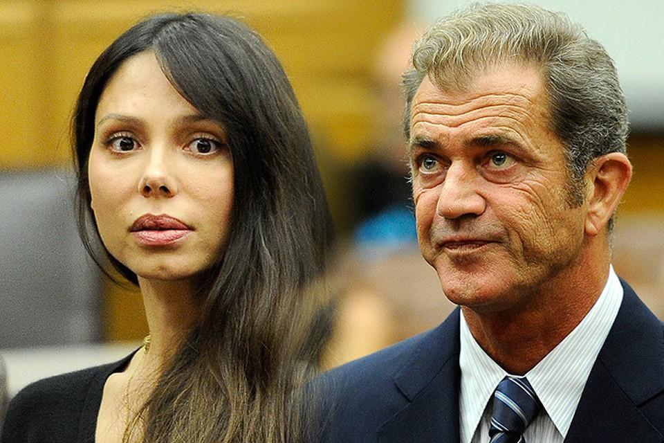 Оксана Григорьева и Мел Гибсон на заседании суда по бракоразводному процессу 2011 года