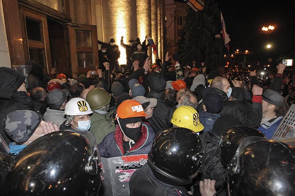 На Украине не утихают акции протеста сторонников федерализации