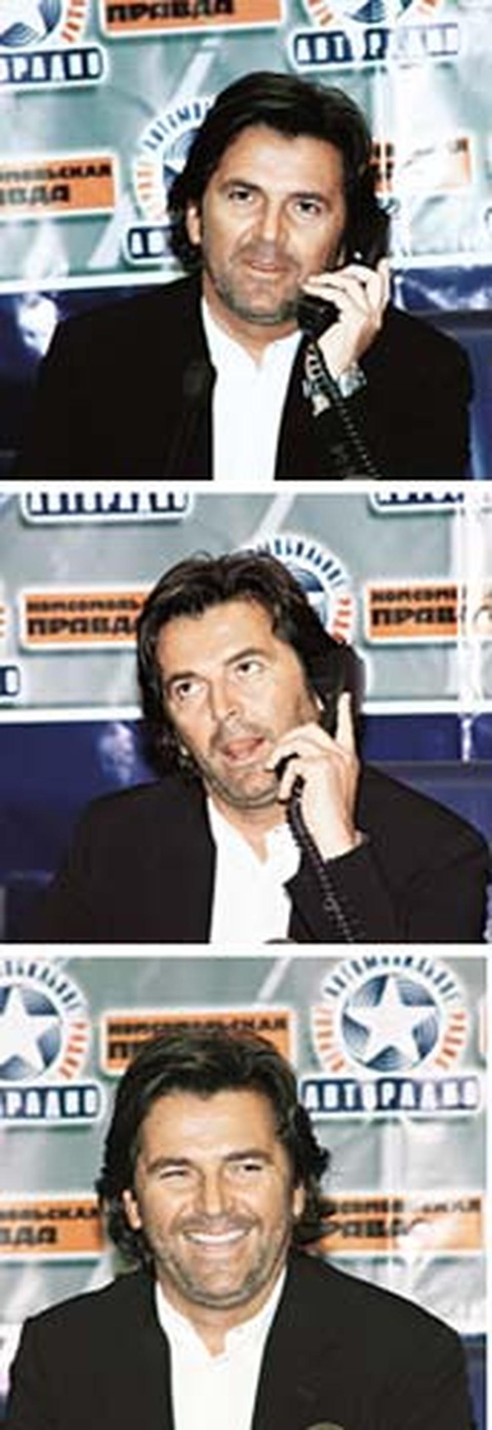 Телефоны «Комсомолки»  разрывались от звонков, а герой дня  был терпелив и улыбчив.  - Больше всего люблю... м-м-м... средиземноморскую кухню и свою жену......а вот о русских девушках лучше спрашивайте у моих музыкантов!