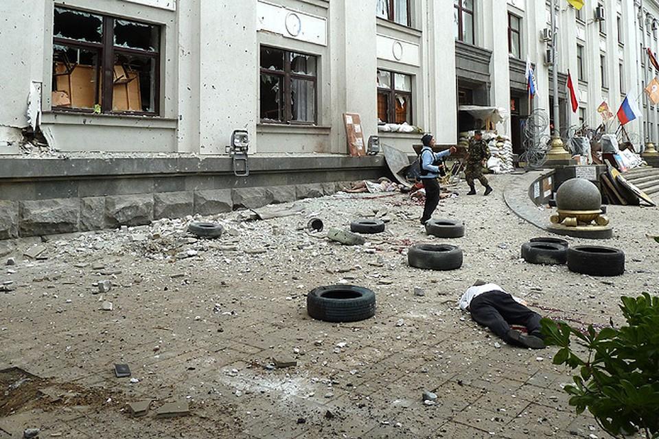 Самолет ВВС Украины обстрелял здание обладминистрации Луганска