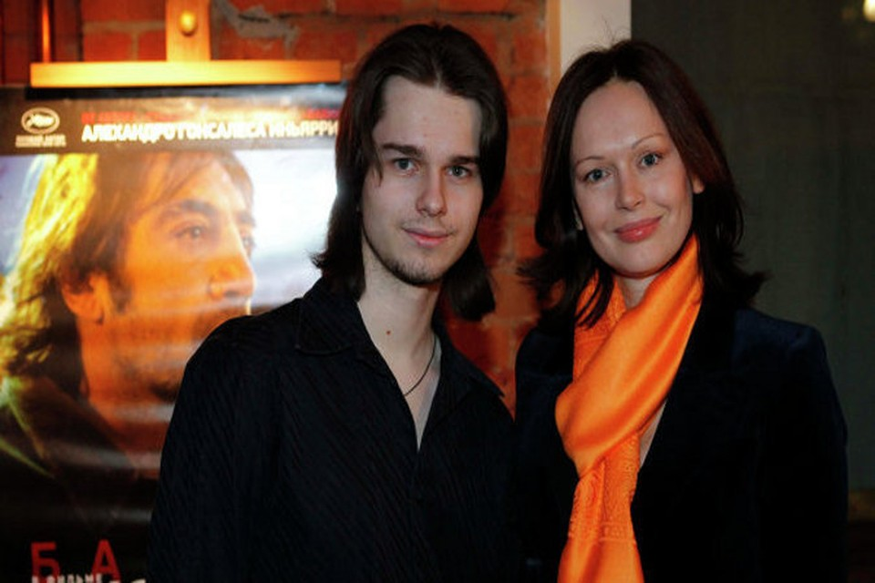 Андрей Ливанов с мамой, Ириной Безруковой