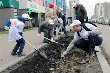 Жители Екатеринбурга посадили «Лес Победы»