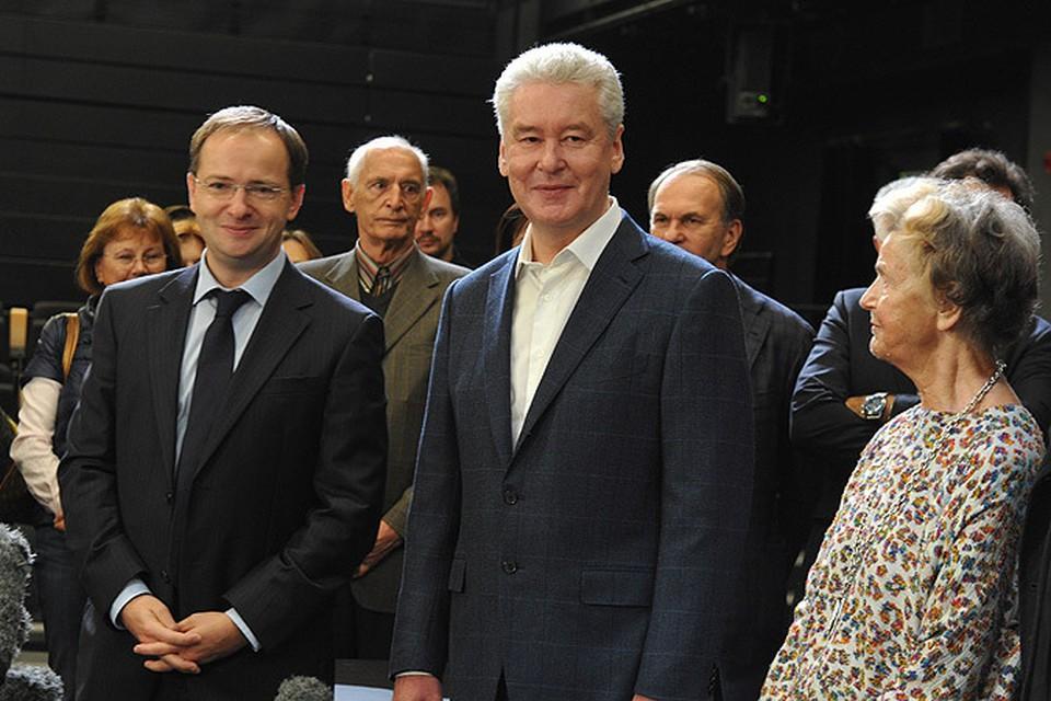 Сергей Собянин и Владимир Мединский посетили обновленный Театр Вахтангова.