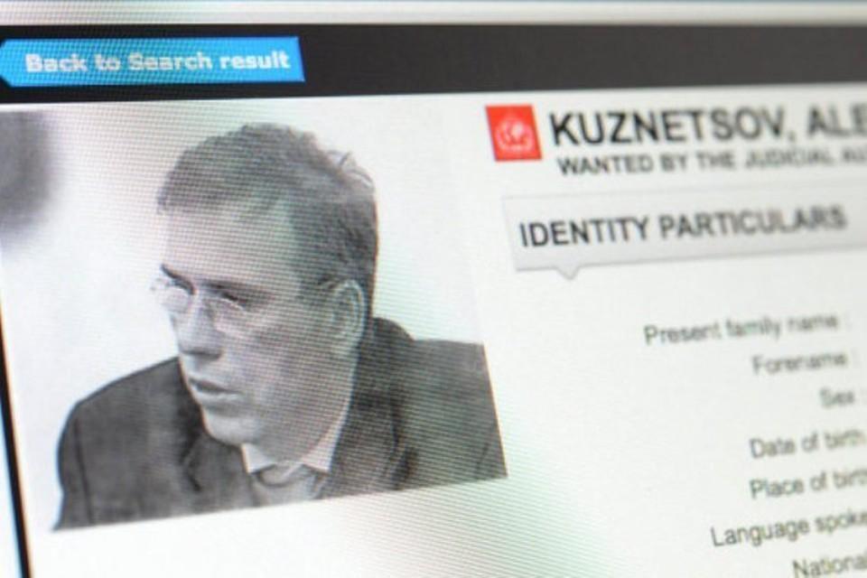 Страница сайта Интерпола с данными Алексея Кузнецова, объявленного в международный розыск еще в 2012 году