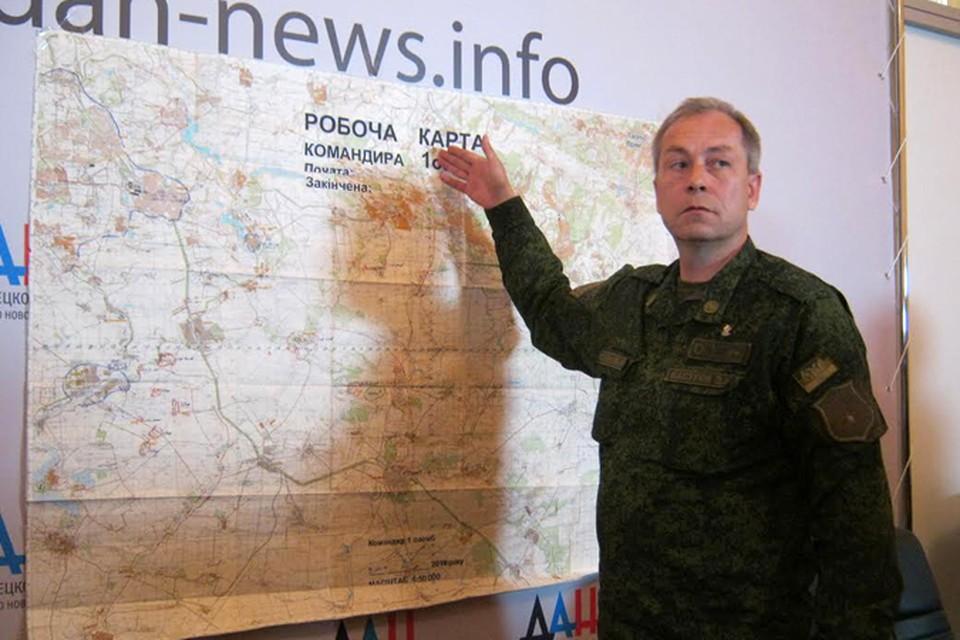 Эдуард Басурин показал, где находился украинский комплекс «Бук». Фото: Наталья ОСИПОВА