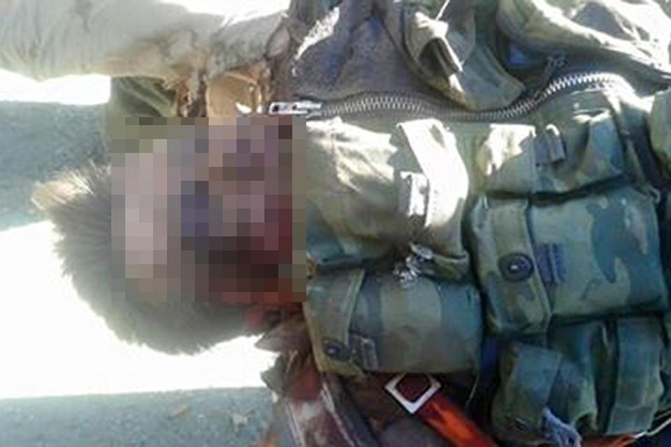 Утверждается, что это - российский пилот, который погиб при катапультировании
