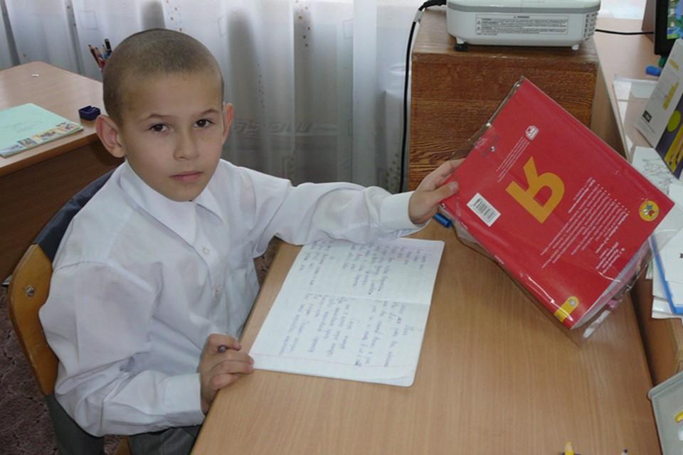 Алеша самый лучший в классе по математике. Фото: из личного архива Алышевых.