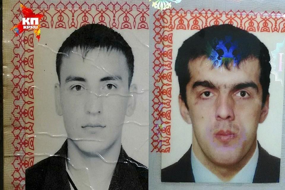 Основной подозреваемый - 31-летний Азамат Бижов (слева) и его подельник - 28-летний Рустам Губжоков.