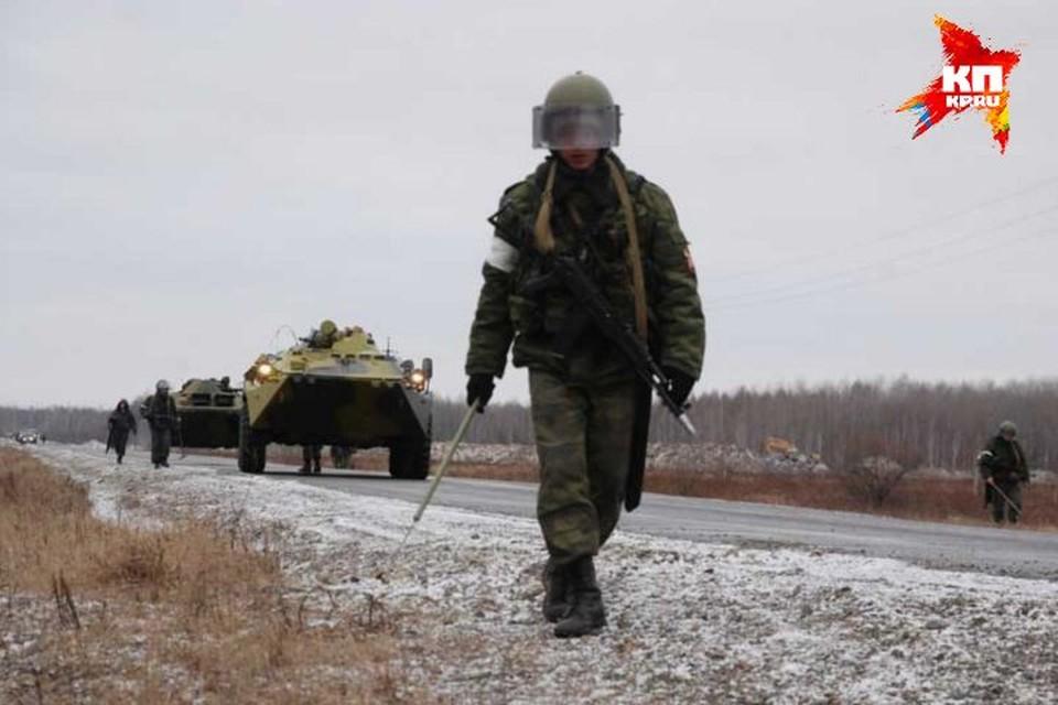 Учения бригады внутренних войск МВД РФ