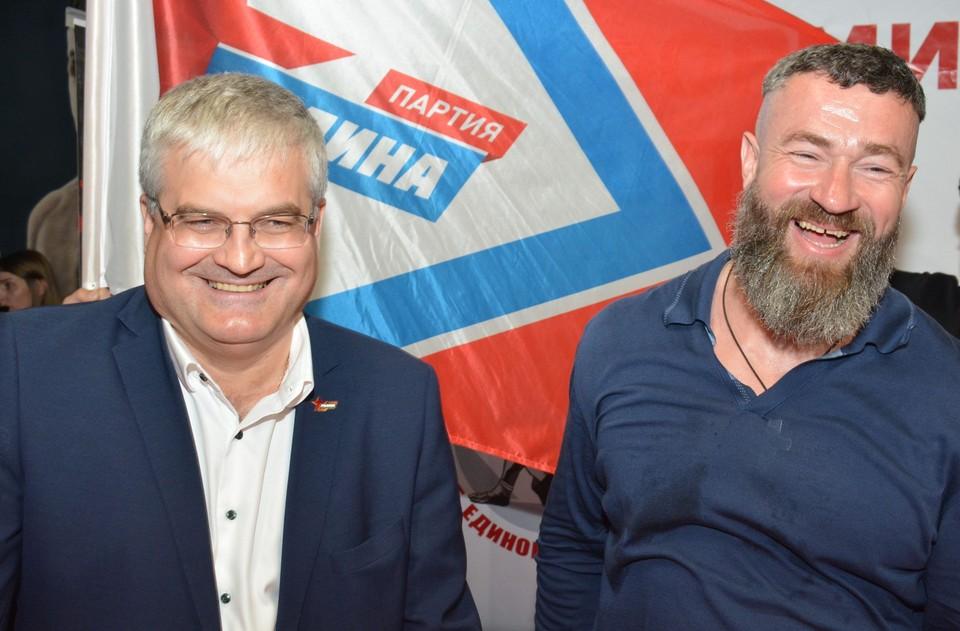 На день рождения клуба Сергей Бадюк приехал вместе с Вячеславом Илюхиным.