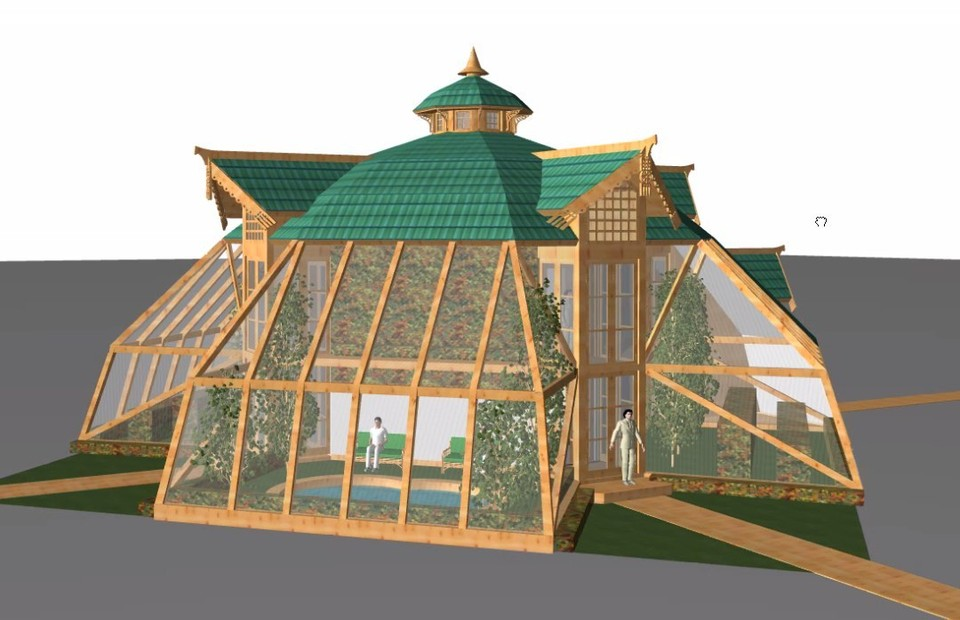 Проект купольного дома-вегетария.