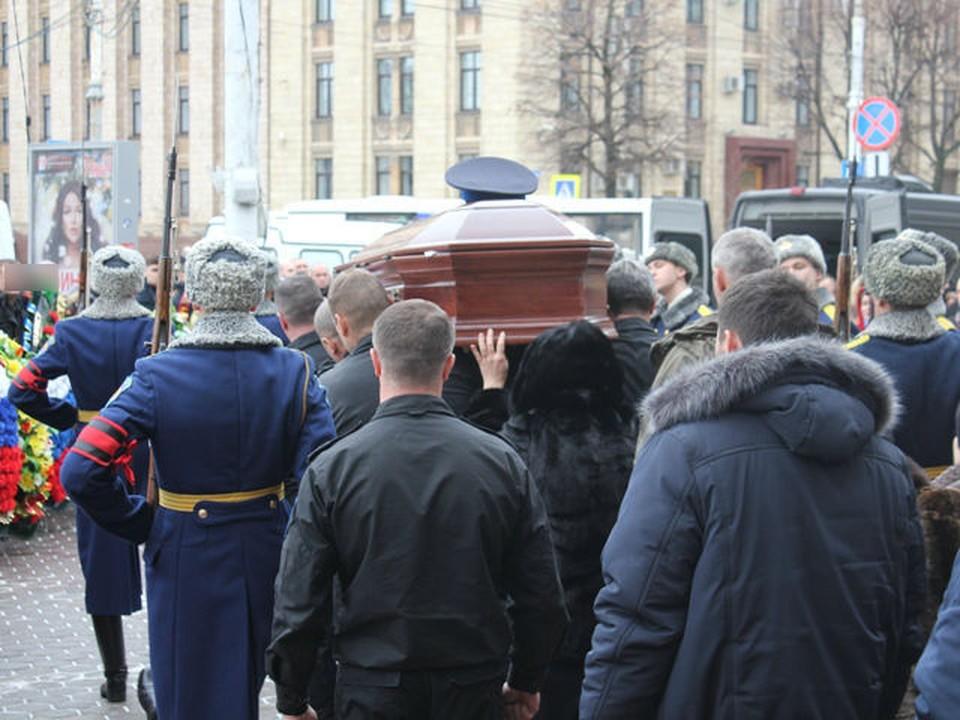 Церемония прощания с Денисом Налетовым