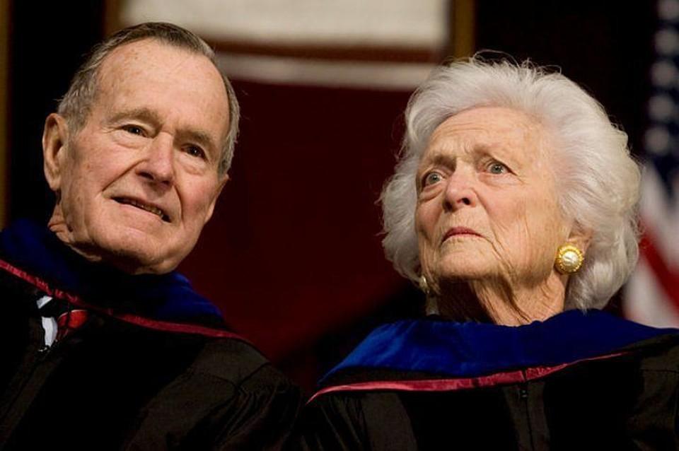 Джордж Буш-старший и Барбара Буш