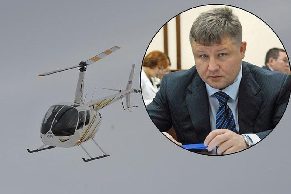 """На борту частного """"Робинскон R66"""" находилось пять человек, включая бизнесмена и бывшего вице-премьера Республики Алтай Анатолия Банных"""