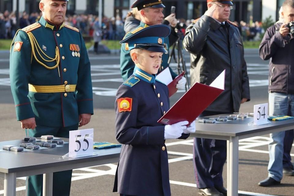 Кадеты Кемеровского президентского училища приняли присягу