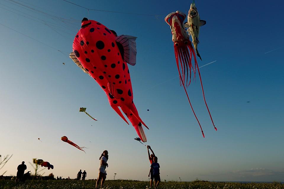Международный фестиваль воздушных змеев состоялся на острове Мальта